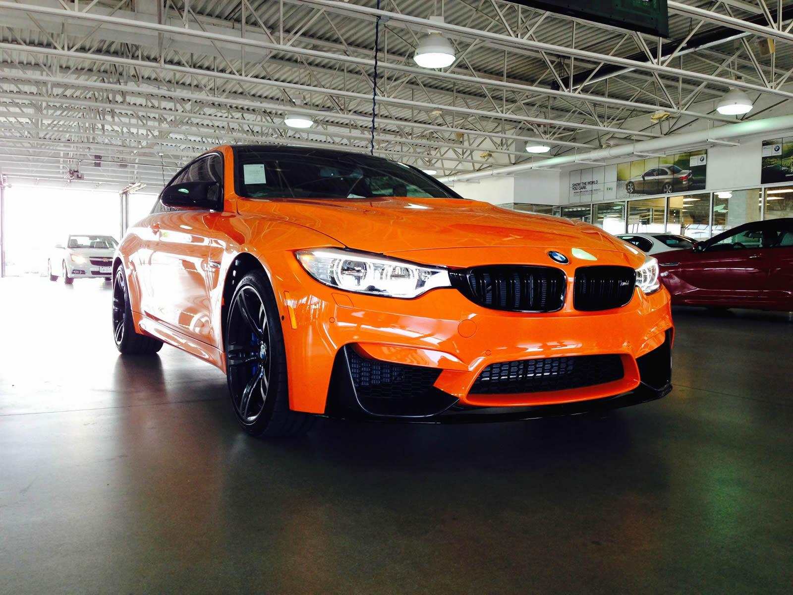 Bmw M4 In Feuerorange Limerock Special Edition In Dallas