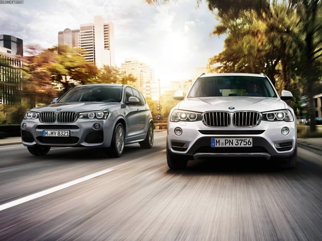 2014-BMW-X3-M-Sportpaket-Facelift-F25-LCI-neben-X3-xLine