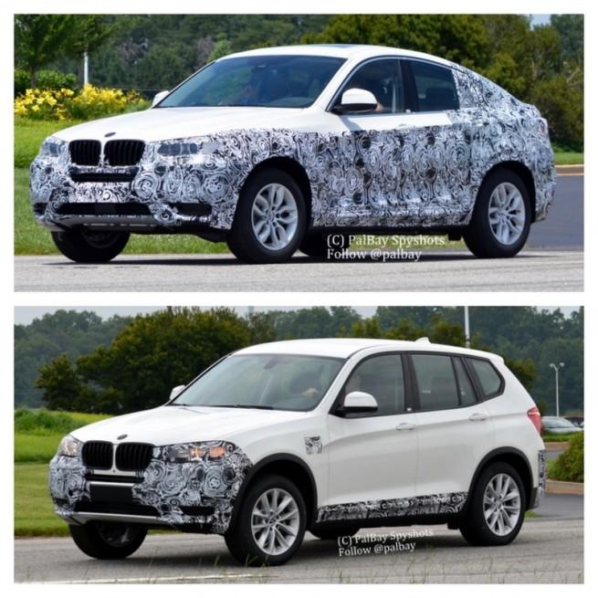 2014-BMW-X4-F26-Erlkoenig-Vergleich-X3-F25-3