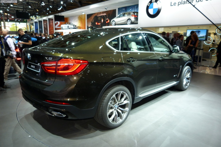 bmw x6 f16 erste live fotos von generation 2 in paris 2014. Black Bedroom Furniture Sets. Home Design Ideas