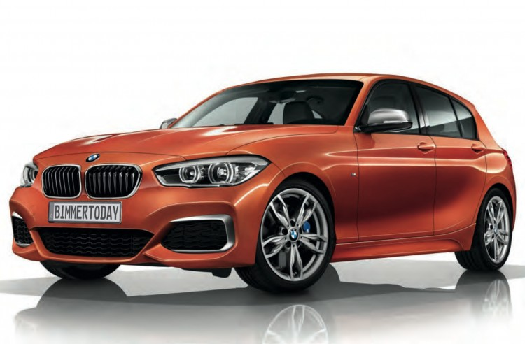 2015-BMW-M135i-Facelift-F20-LCI-Valencia-Orange-Front
