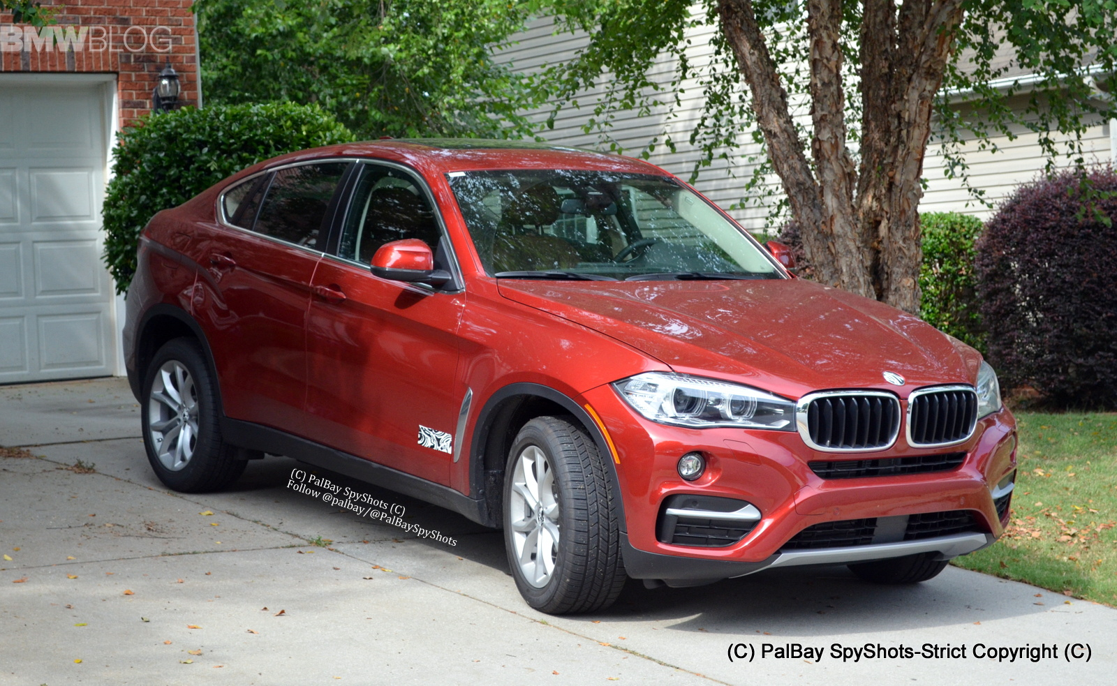 Bmw X6 F16 Live Fotos Zeigen Suv Coup 233 In Flamencorot