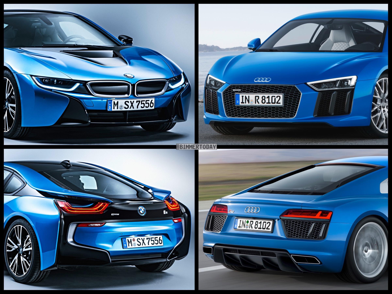 Bild Vergleich Audi R8 2015 Trifft Bmw I8