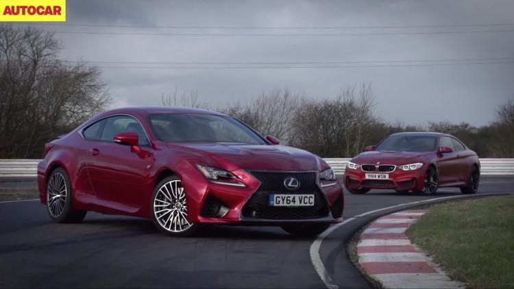 Lexus-RC-F-vs-BMW-M4-F82-Video-Vergleich-Autocar