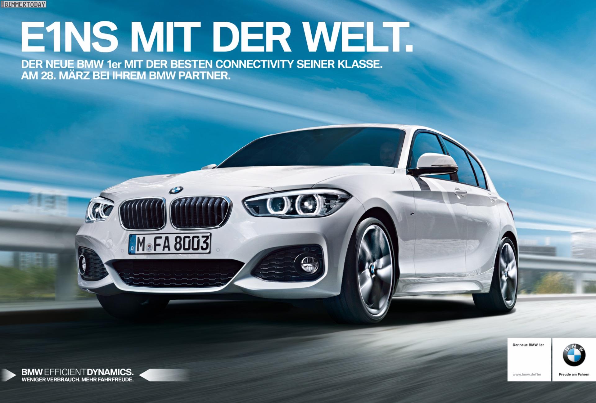 Bmw 1er Facelift 2015 Werbe Kampagne E1ns Mit Der Welt