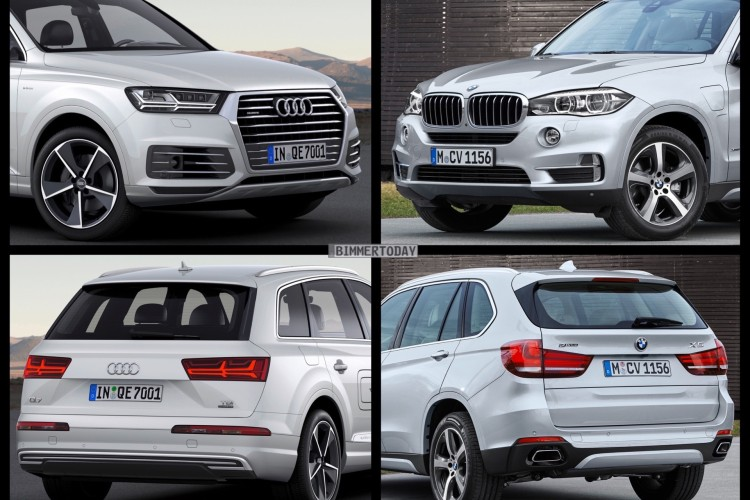 bild vergleich bmw x5 xdrive40e vs audi q7 e tron quattro. Black Bedroom Furniture Sets. Home Design Ideas