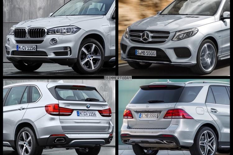 Bild Vergleich Mercedes Gle 2015 Trifft Bmw X5 F15