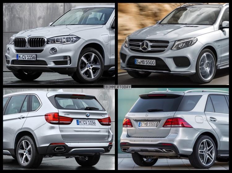 Bild-Vergleich-BMW-X5-xDrive40e-Mercedes-GLE-500-e-PHEV-Hybrid-SUV-2015-01