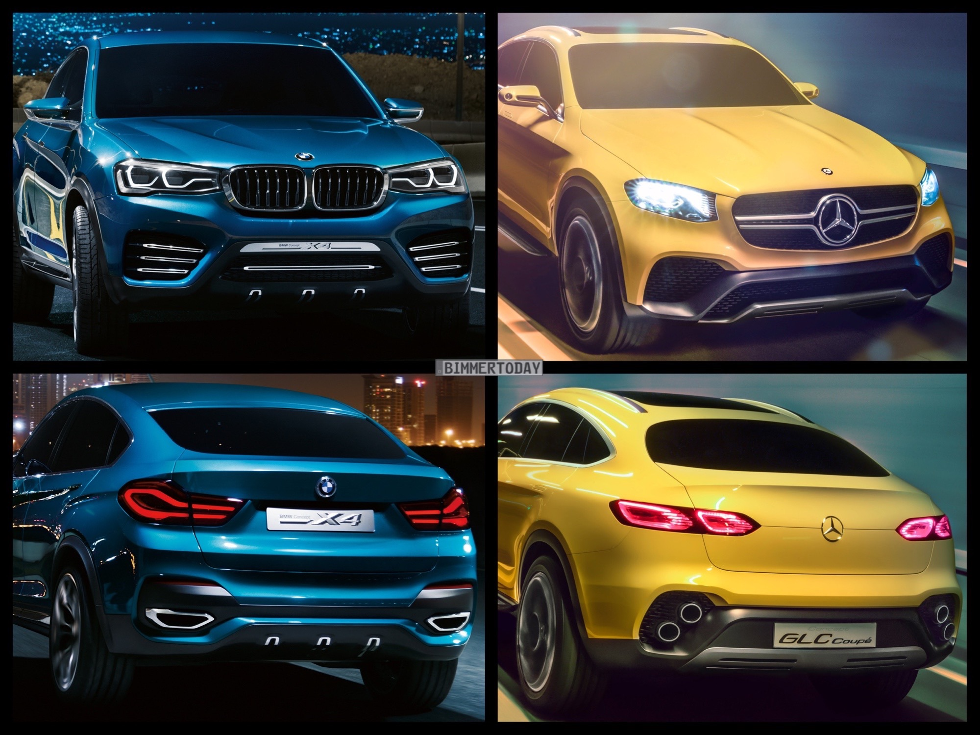 Bild-Vergleich: Mercedes GLC Coupé vs. BMW X4