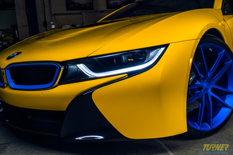 Turner Motorsport Bmw I8 Tuning Projekt In Blau Amp Gelb