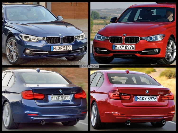 bild vergleich bmw 3er f30 lci vs pre facelift limousine. Black Bedroom Furniture Sets. Home Design Ideas