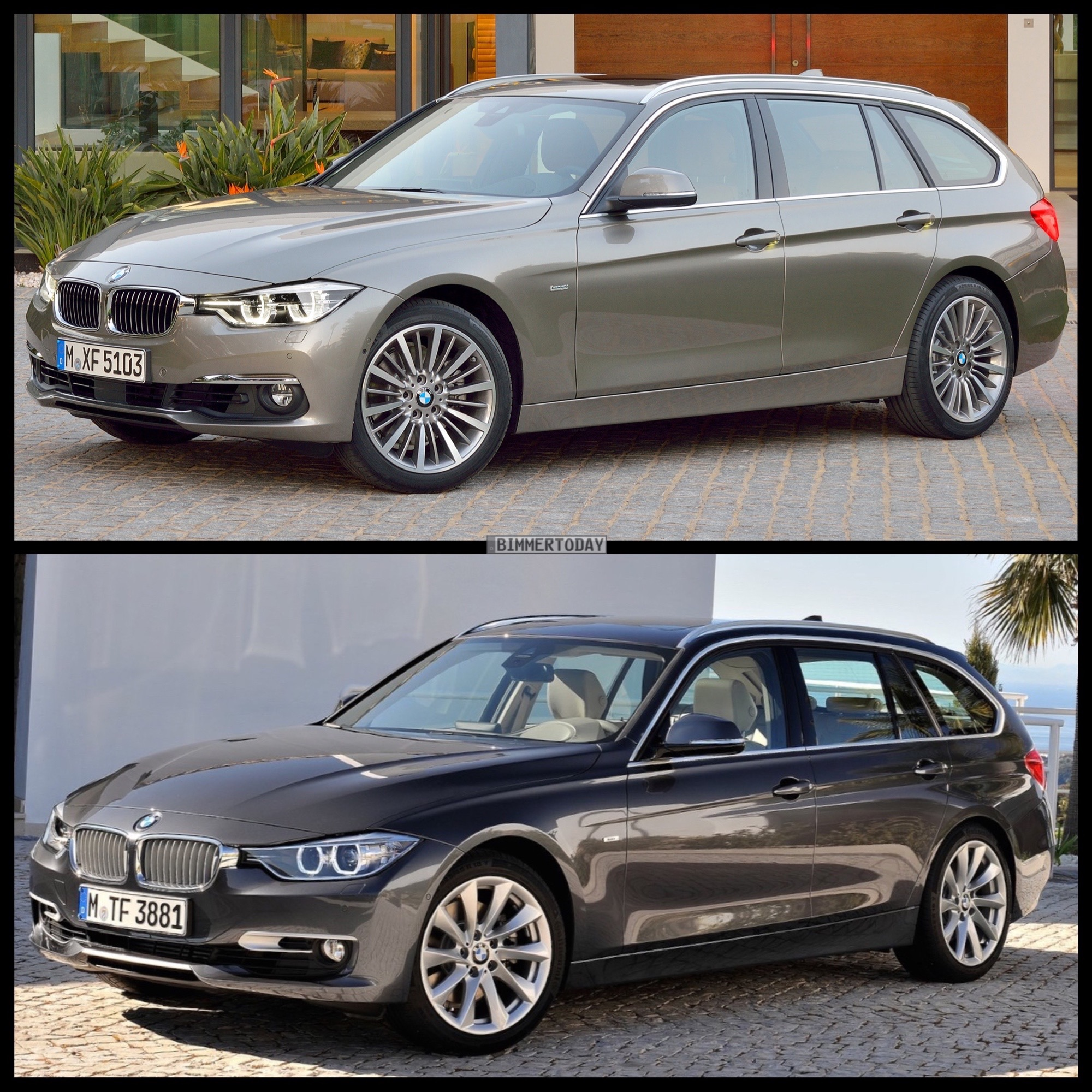 bild vergleich bmw 3er f31 lci vs pre facelift touring. Black Bedroom Furniture Sets. Home Design Ideas