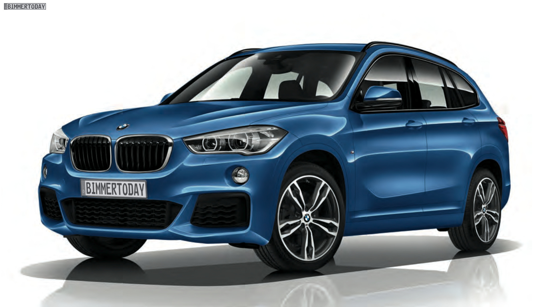 bmw x1 2015 mit m sport paket f48 im m look in estorilblau. Black Bedroom Furniture Sets. Home Design Ideas