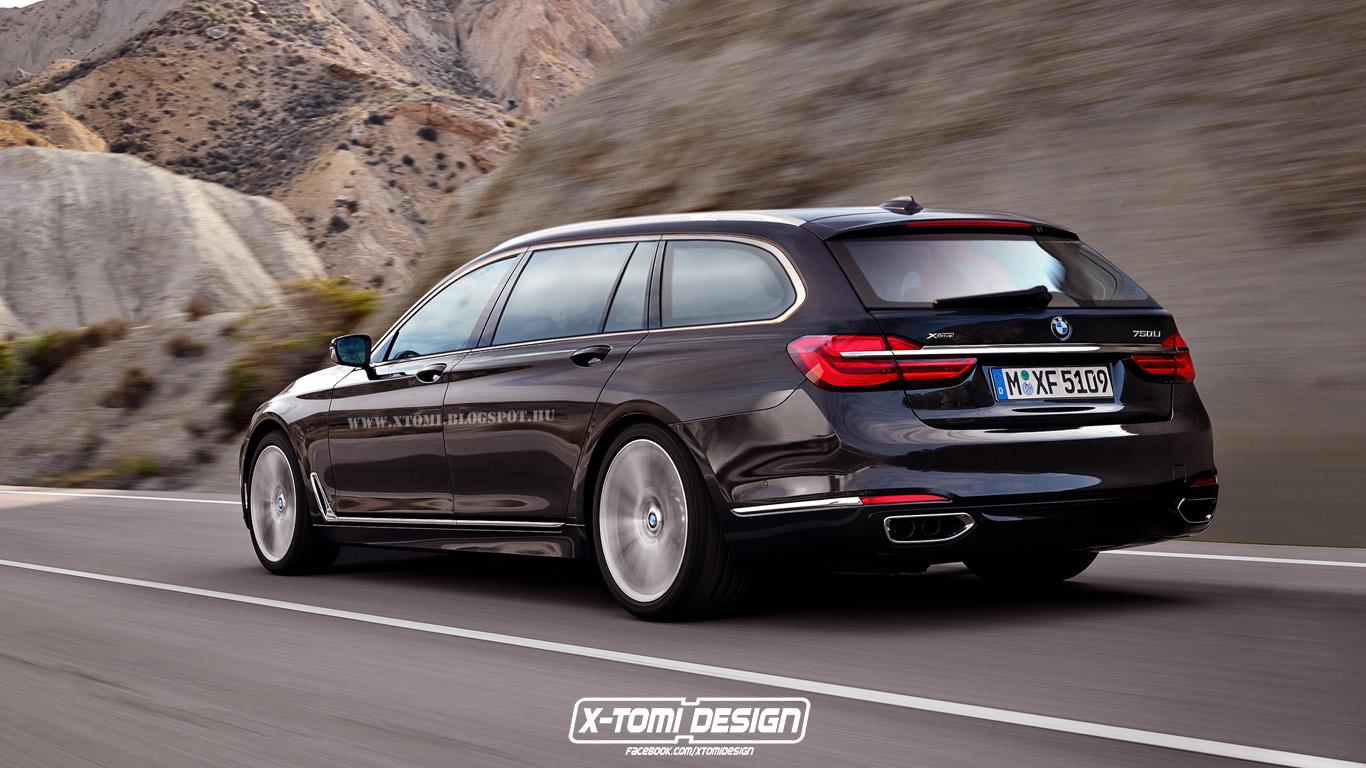 Bmw 7er Touring Photoshop Entwurf Zeigt Luxus Kombi