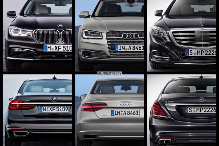 Bild Vergleich Bmw 7er 2015 Vs Mercedes S Klasse Audi A8