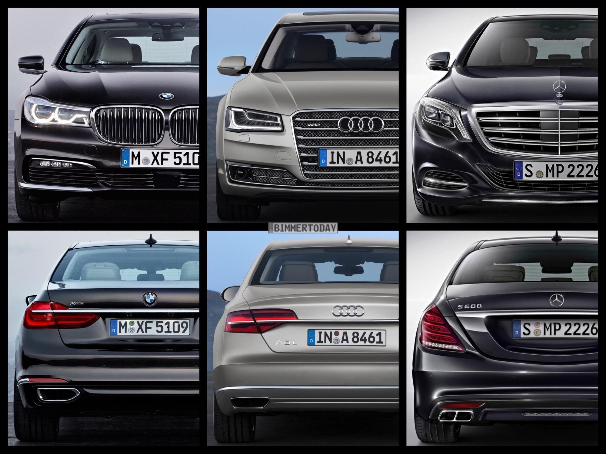 Bild Vergleich Bmw 7er 2015 Vs Mercedes S Klasse Amp Audi A8