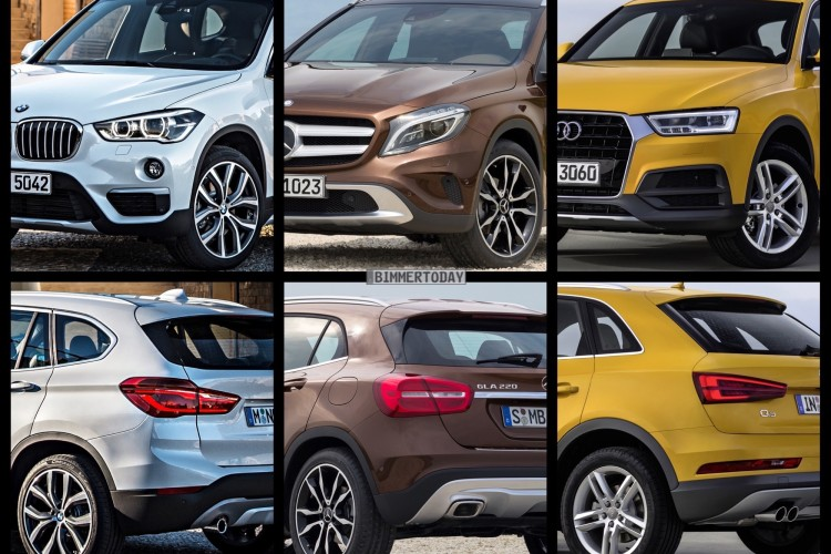 bild vergleich bmw x1 f48 vs audi q3 vs mercedes gla. Black Bedroom Furniture Sets. Home Design Ideas