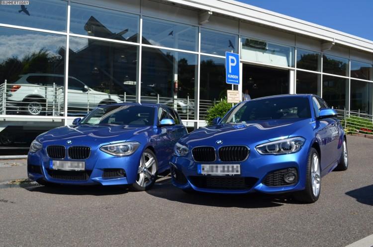 2015-BMW-1er-F20-LCI-M-Sportpaket-Vergleich-Pre-Facelift-Estorilblau-01