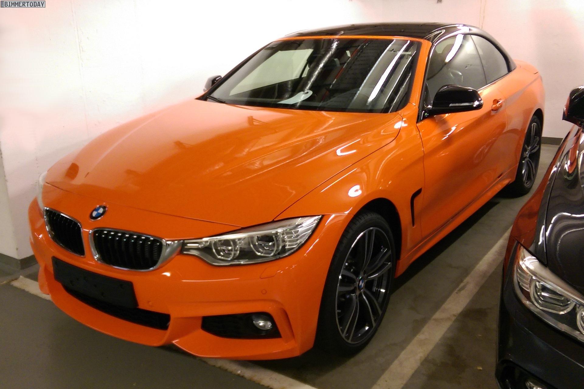 bmw individual 4er cabrio f33 in feuer orange und schwarz