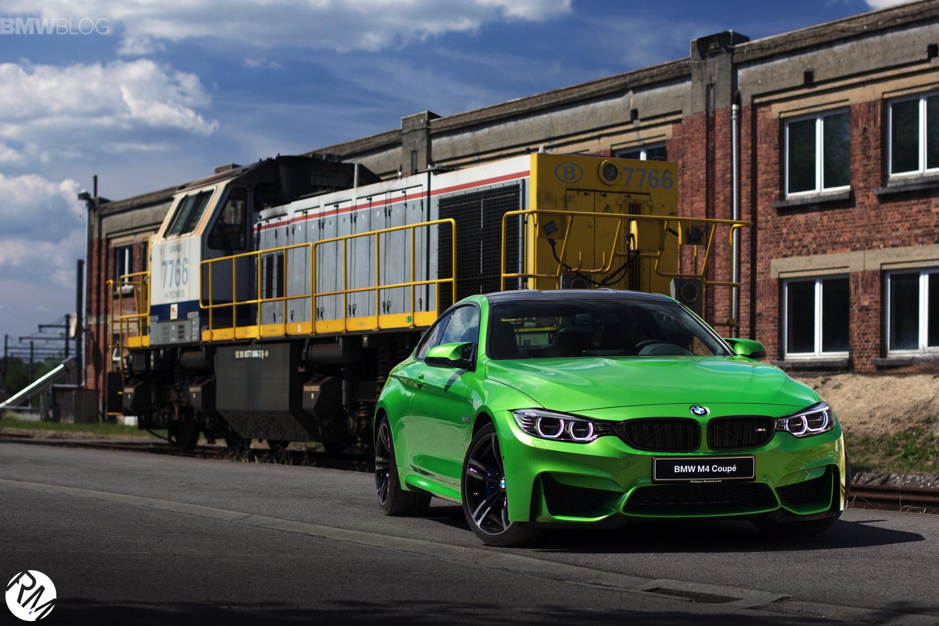Java Grün: BMW M4 Coupé mit Individual-Lackierung in Belgien