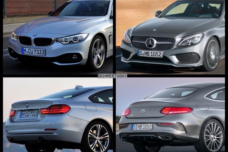 Bild Vergleich Mercedes C Klasse Coup 233 2015 Vs Bmw 4er