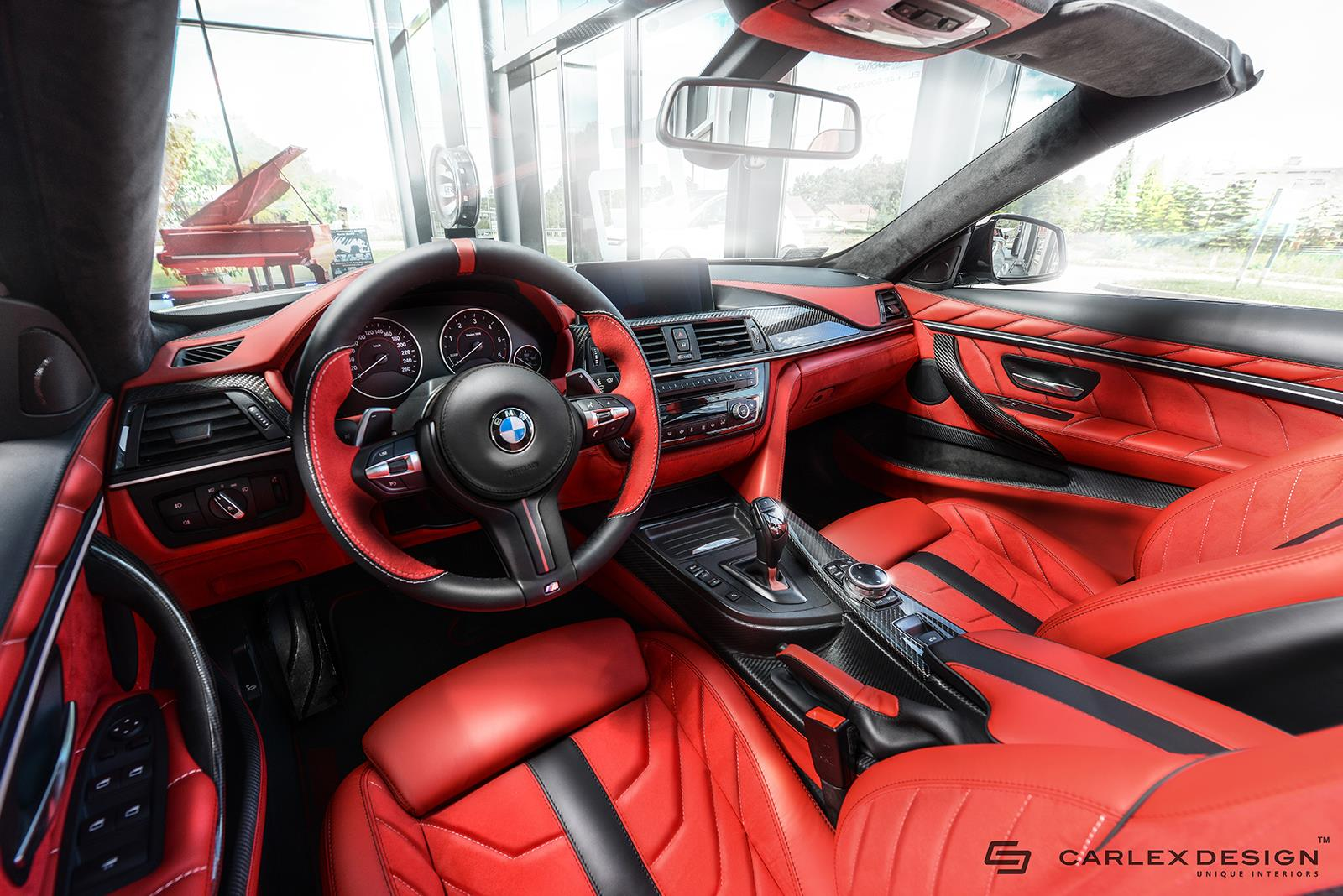 carlex design bmw 4er cabrio traum interieur in rot schwarz. Black Bedroom Furniture Sets. Home Design Ideas