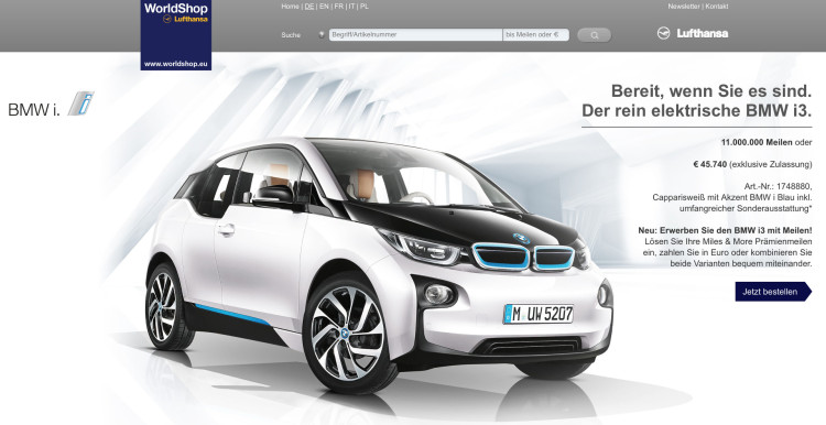 Miles-and-More-BMW-i3-Lufthansa-Meilen-Worldshop