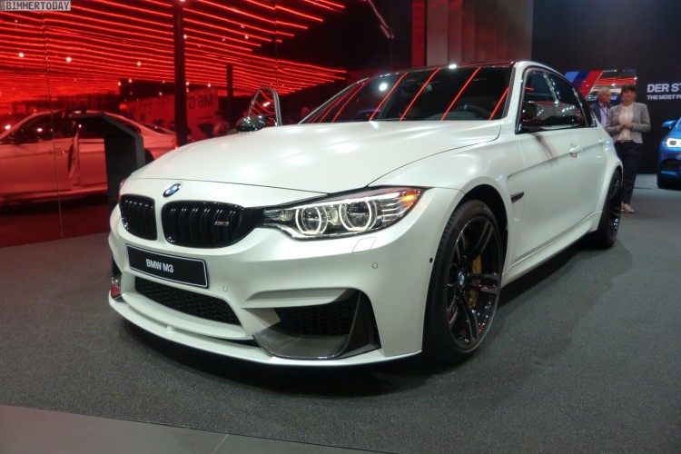 Iaa 2015 Bmw M3 F80 Lci Mit M Performance In Frozen White
