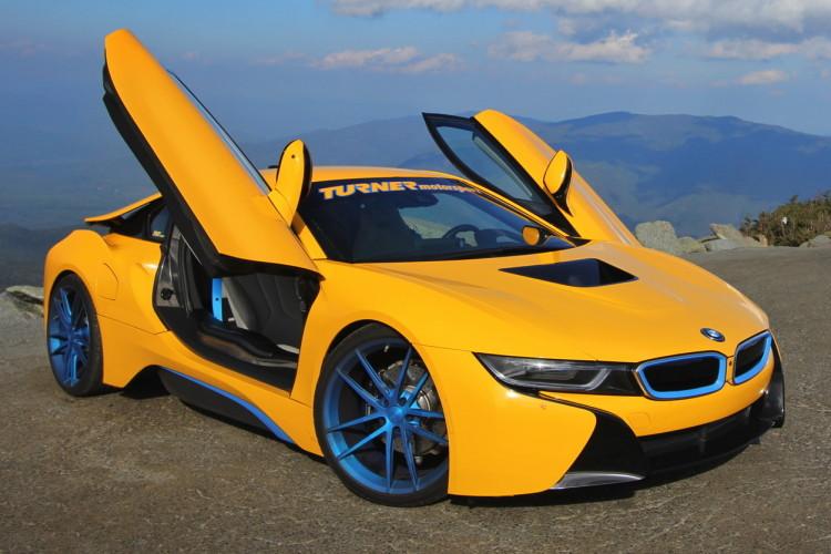 Turner Motorsport Bmw I8 Hybrid Sportler In Gelb Amp Blau