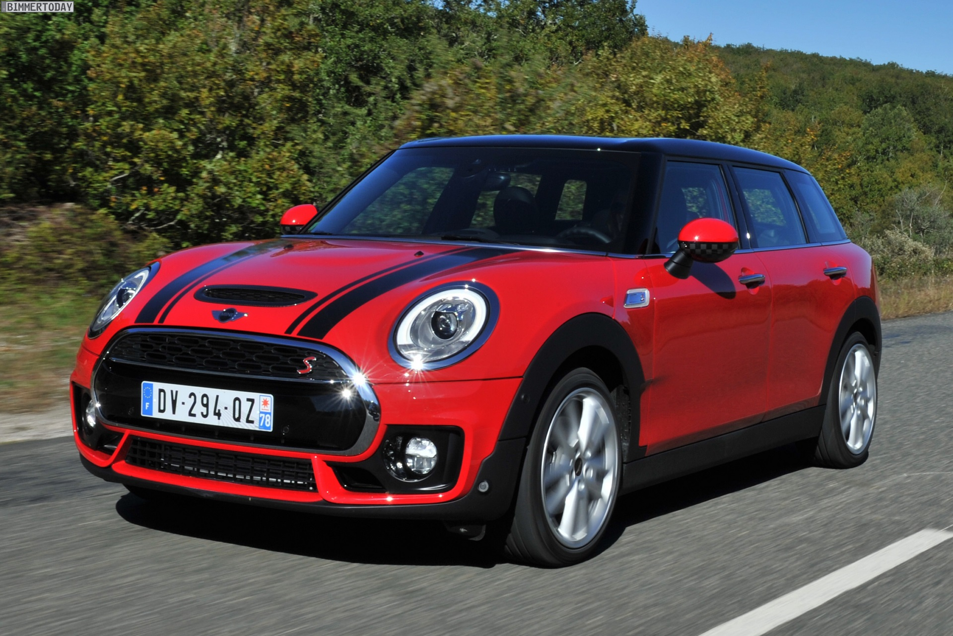 Mini Clubman F54 In Chili Red Mit John Cooper Works Paket