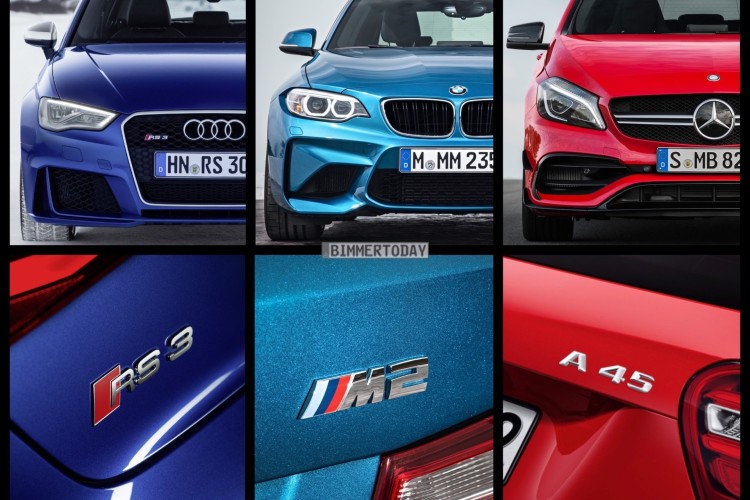Bild Vergleich Bmw M2 Vs Audi Rs 3 Vs Mercedes Amg A 45