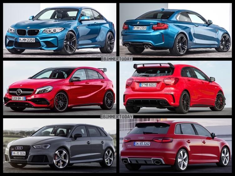 Bild-Vergleich-BMW-M2-F87-Coupe-Audi-RS3-Sportback-Mercedes-A45-AMG-2015-02