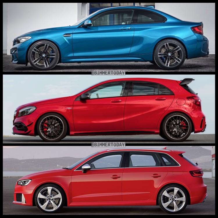 Bild-Vergleich-BMW-M2-F87-Coupe-Audi-RS3-Sportback-Mercedes-A45-AMG-2015-03