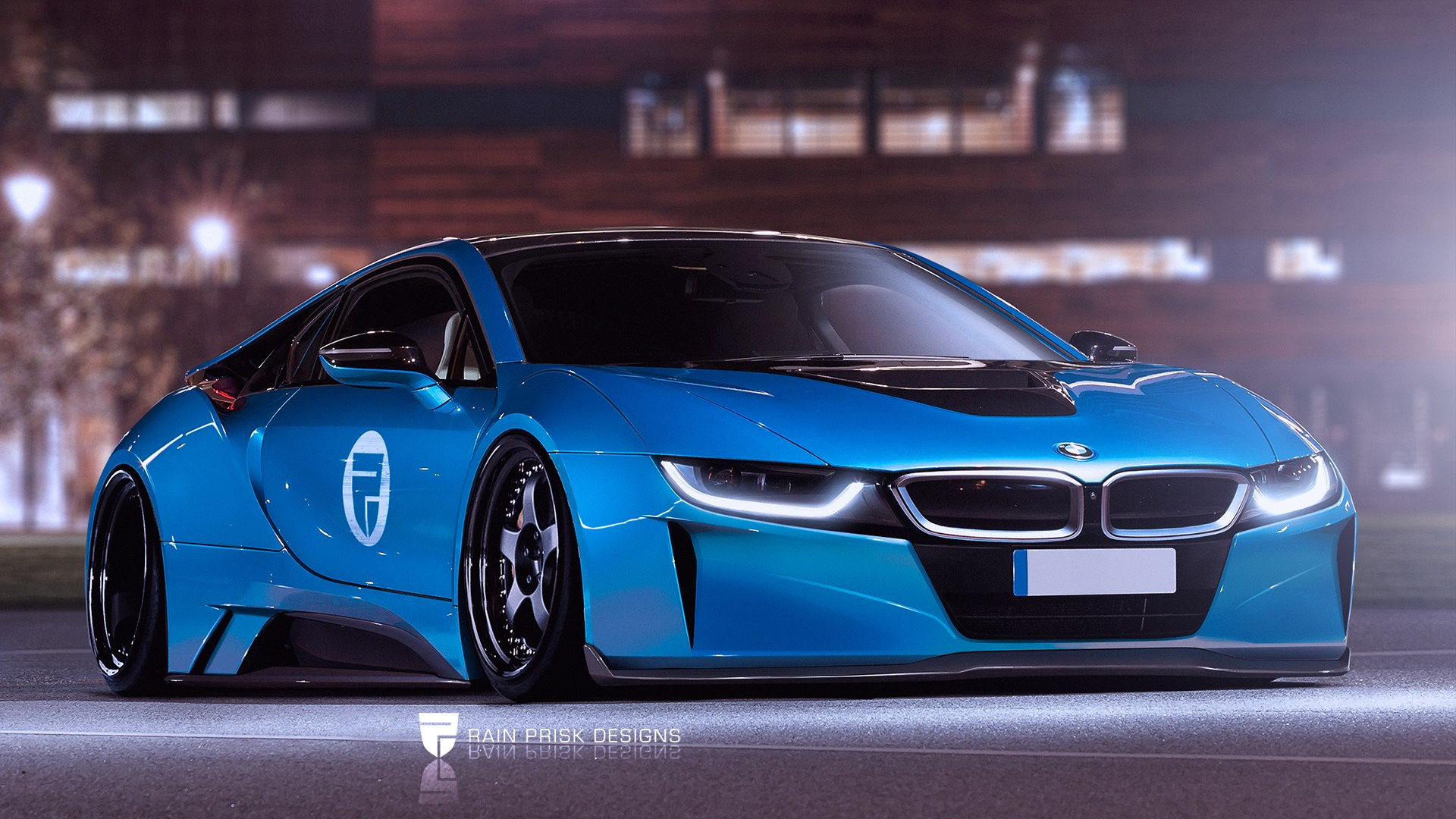 Bmw I8 Widebody Virtueller Tuning I8 Von Rain Prisk Designs
