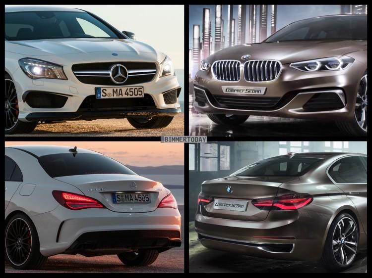 Bild-Vergleich-BMW-Compact-Sedan-Concept-1er-F52-Mercedes-Benz-CLA-45-AMG-2015-01