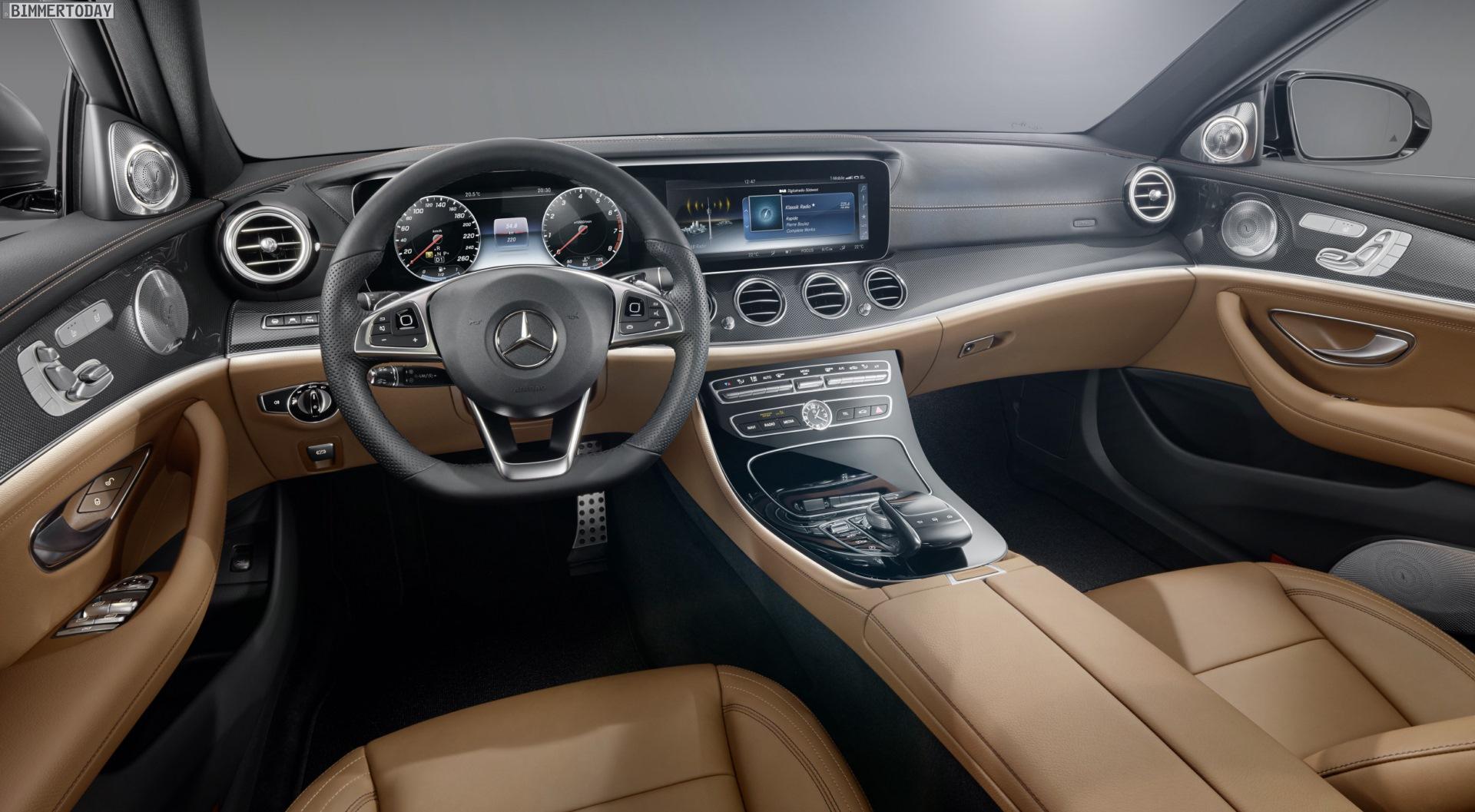 Mercedes E-Klasse 2016: Fotos vom Innenraum des 5er-Rivalen