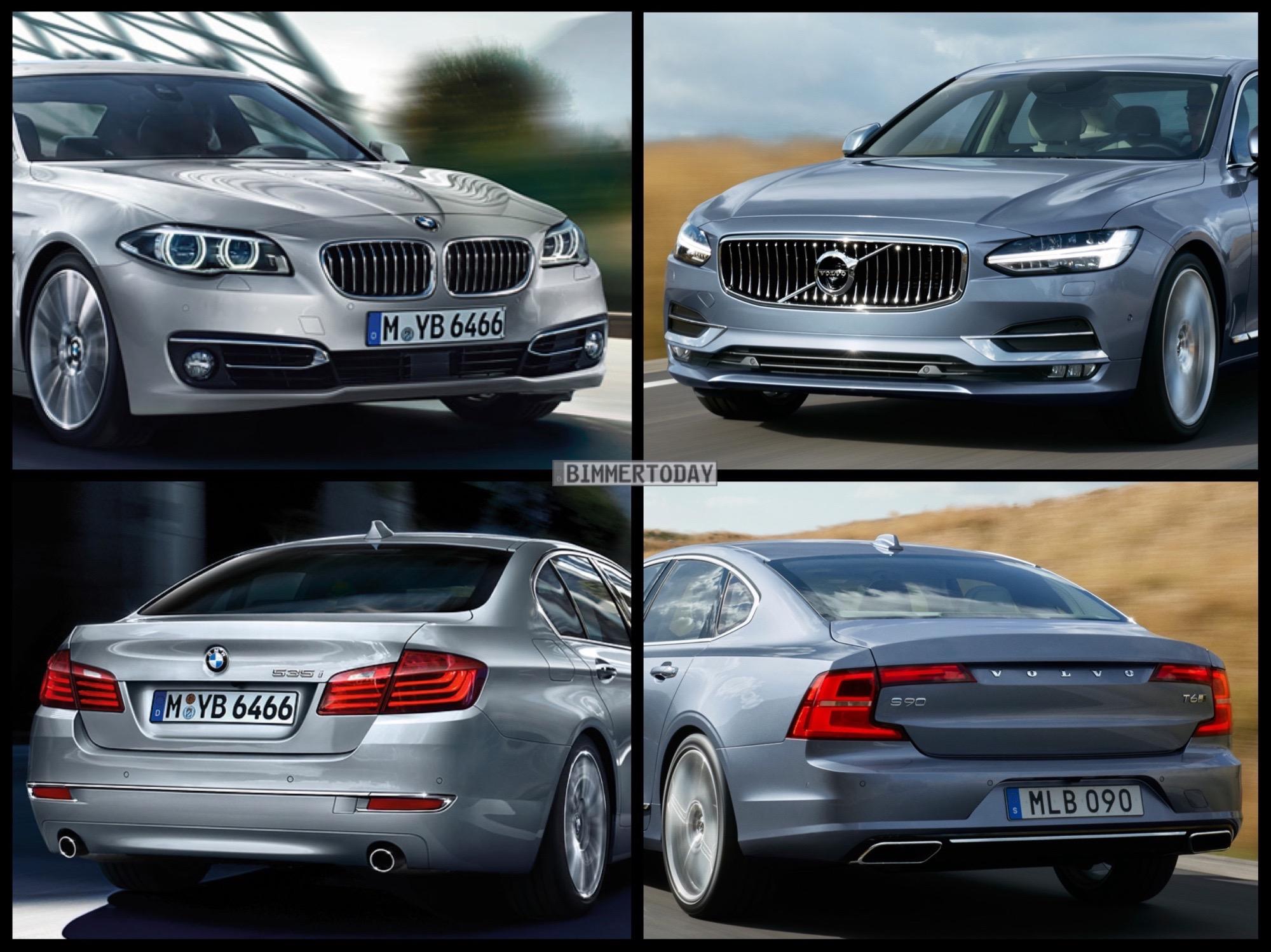 Bild Vergleich Volvo S90 2016 Gegen Bmw 5er F10 Lci