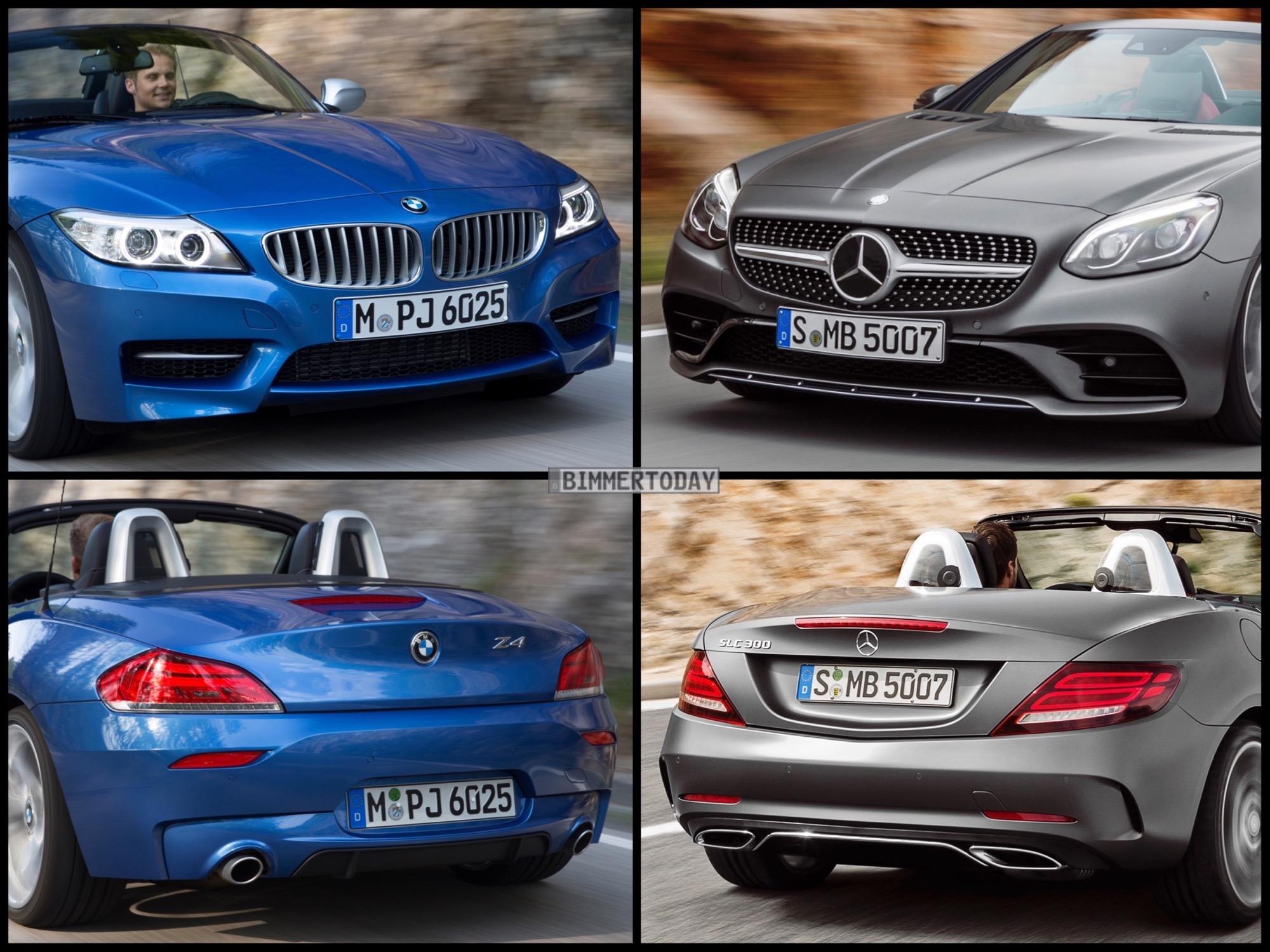 Bild Vergleich Mercedes SLC Roadster vs BMW Z4 E89