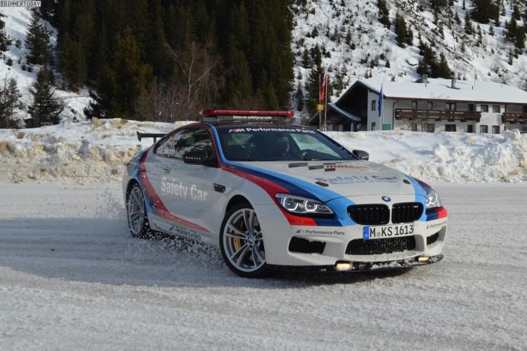 Bmw M6 Safety Car Mit Martin Tomczyk Auf Schnee Und Eis