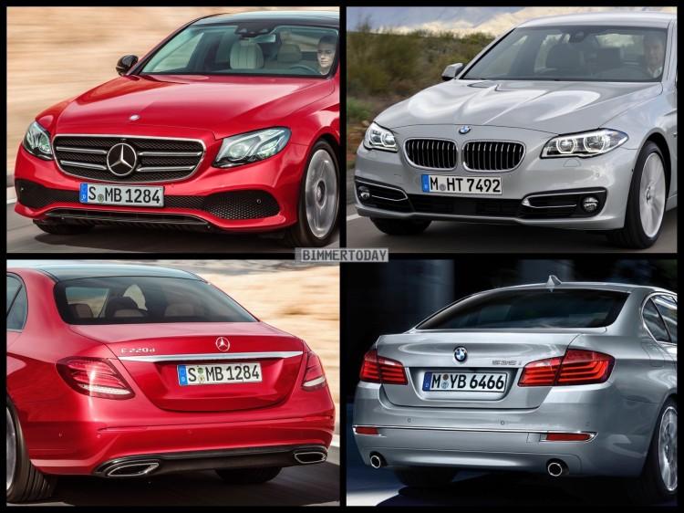 Bild-Vergleich-BMW-5er-F10-LCI-Mercedes-E-Klasse-W213-Limousine-2016-01