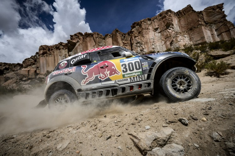 Nasser Al-Attiyah (QAT) of Axion X-Raid Team races during stage 04 of Rally Dakar 2016 around Jujuy, Argentina on January 6, 2016