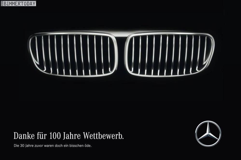 100 Jahre Bmw Mercedes Gratuliert Mit Kleinem Seitenhieb