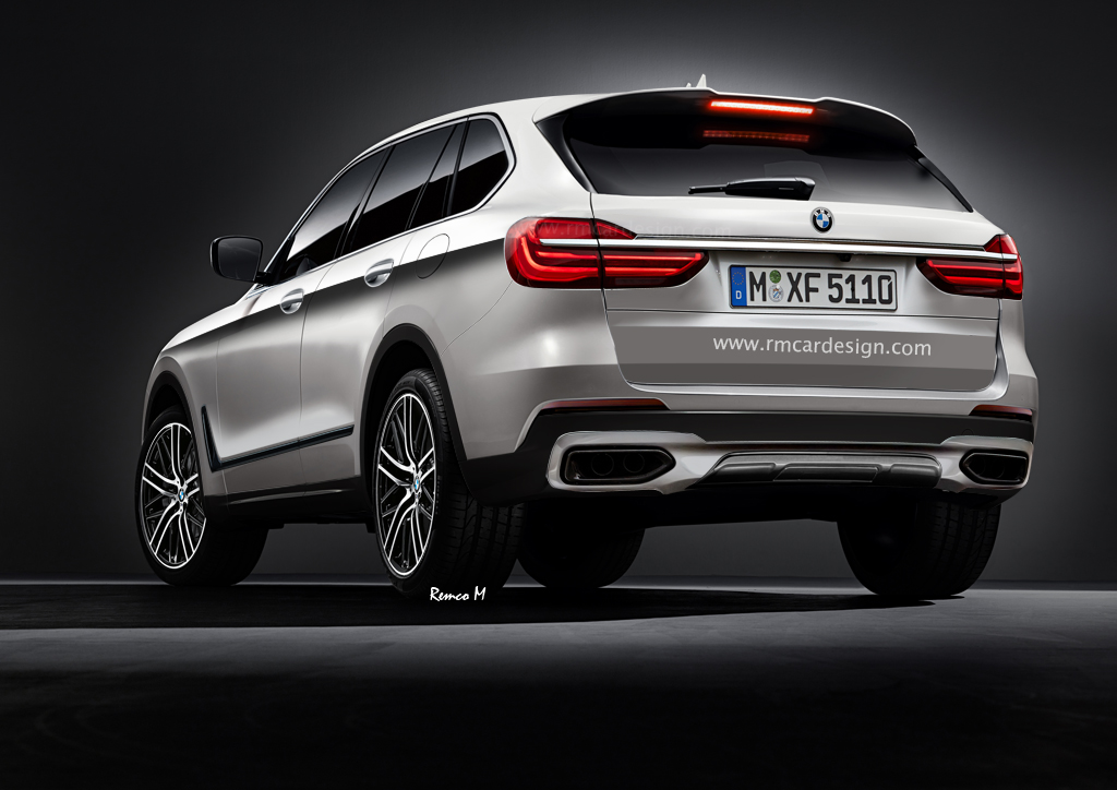 bmw x5 g05 rendering zeigt f15 nachfolger f r 2020. Black Bedroom Furniture Sets. Home Design Ideas