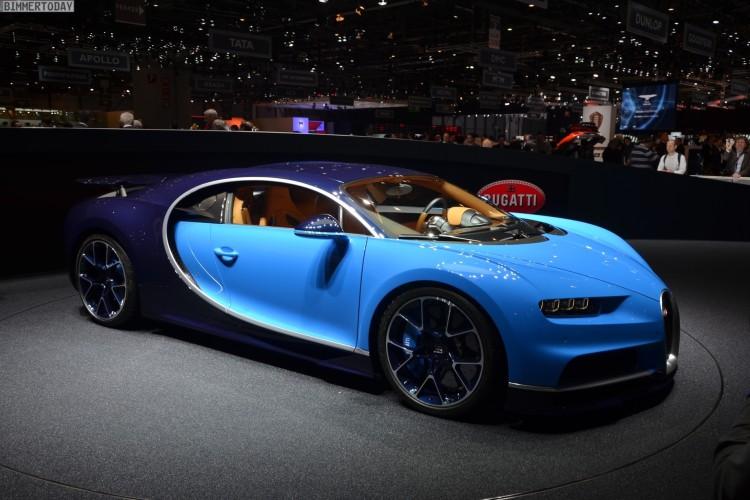 Bugatti Chiron Erste Live Fotos Vom Genfer Autosalon 2016