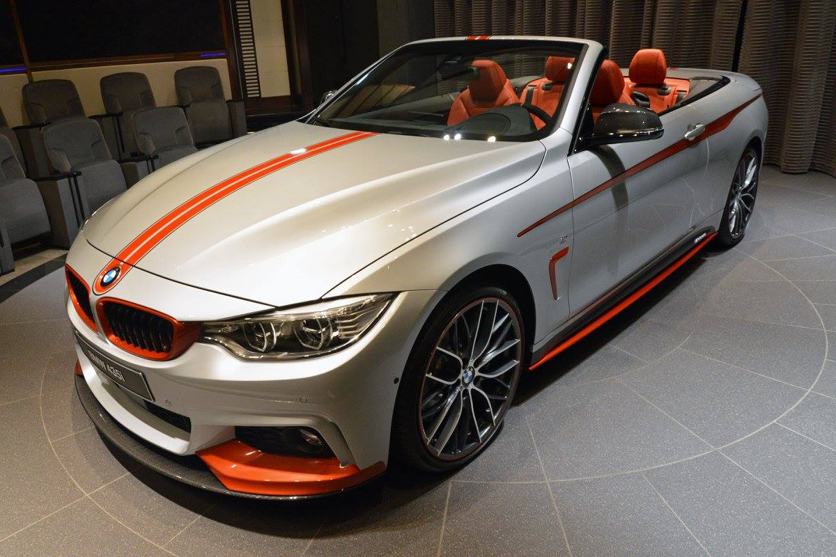 bmw 435i cabrio f33 tuning mit m performance zubeh r. Black Bedroom Furniture Sets. Home Design Ideas