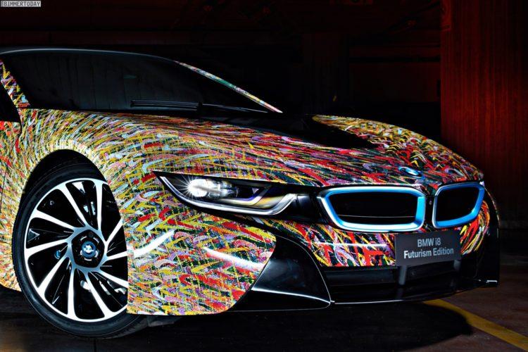 Bmw I8 Futurism Edition Quot Art Car Quot Feiert 50 Jahre Bmw Italia