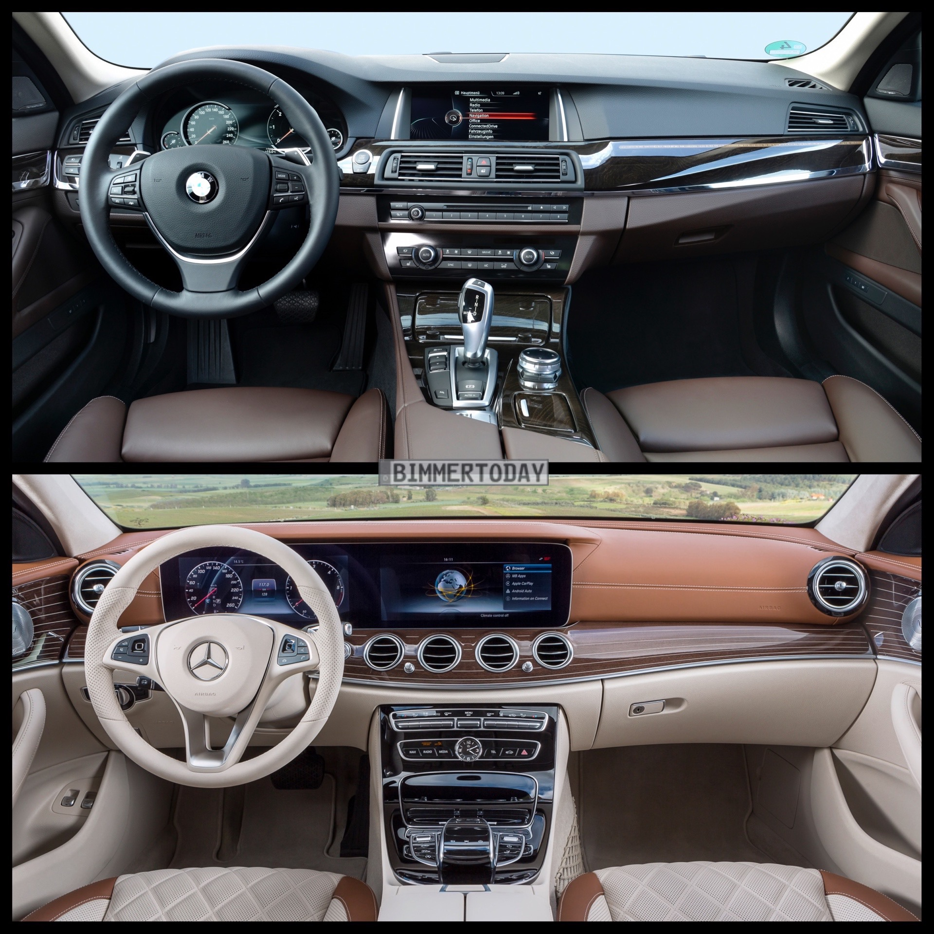 Mercedes E-Klasse T-Modell vs  BMW 5er Touring: Bild-Vergleich