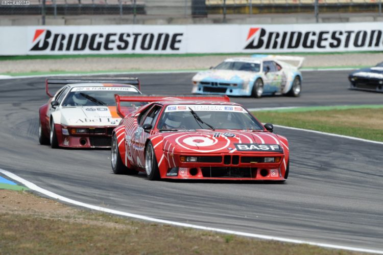 Nelson Piquet drives the BMW M1 Procar. This image is copyright free for editorial use © BMW AG.