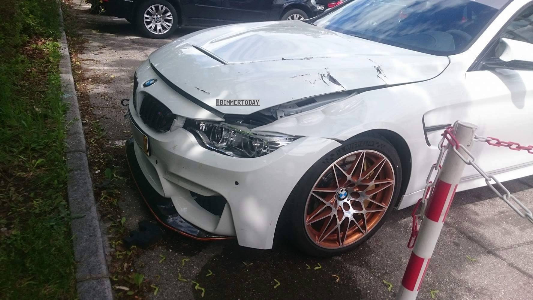 Exklusive Fotos Erster Bmw M4 Gts Bei Unfall Beschadigt