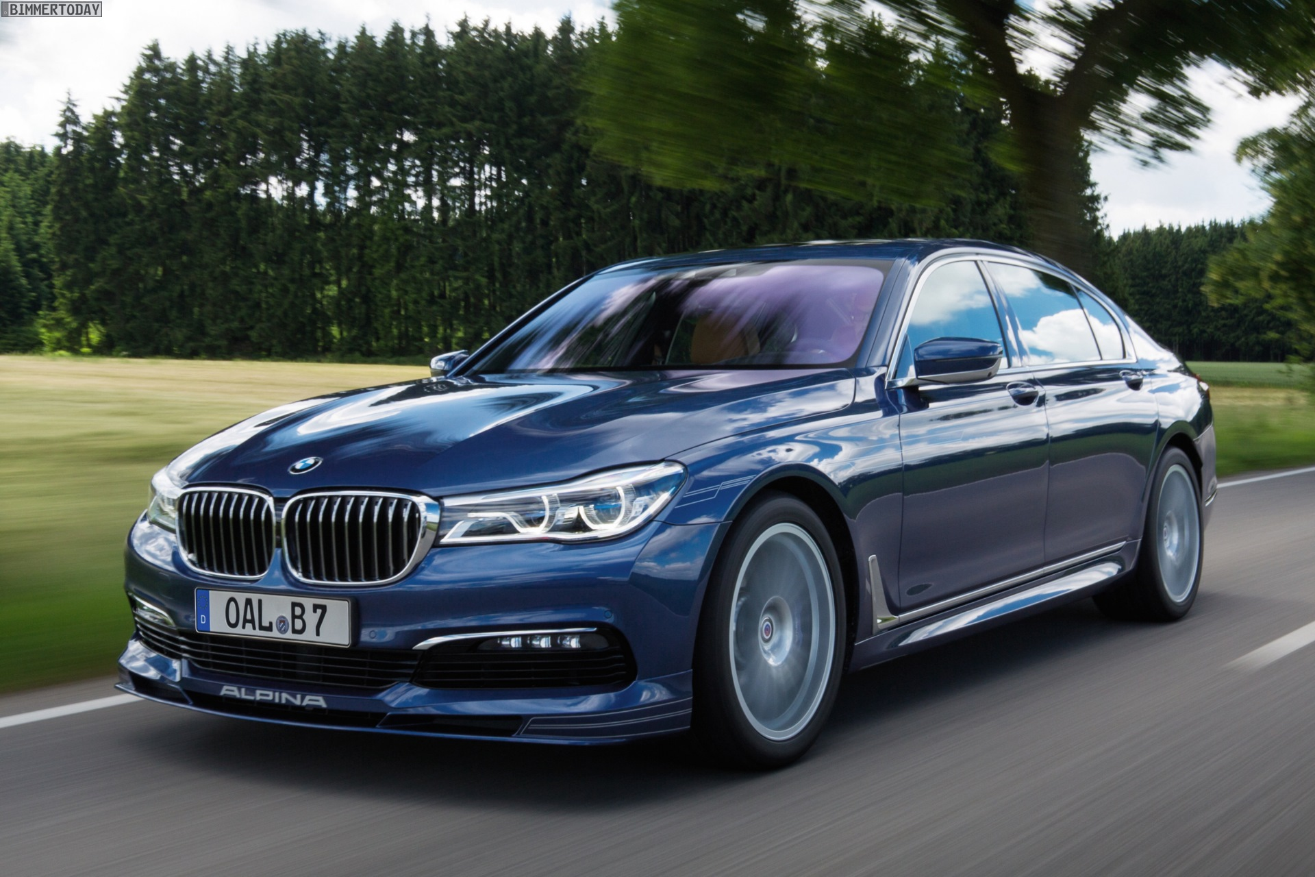 Bmw Alpina B7 Biturbo Neue Fotos Vom Edel 7er In Alpinablau